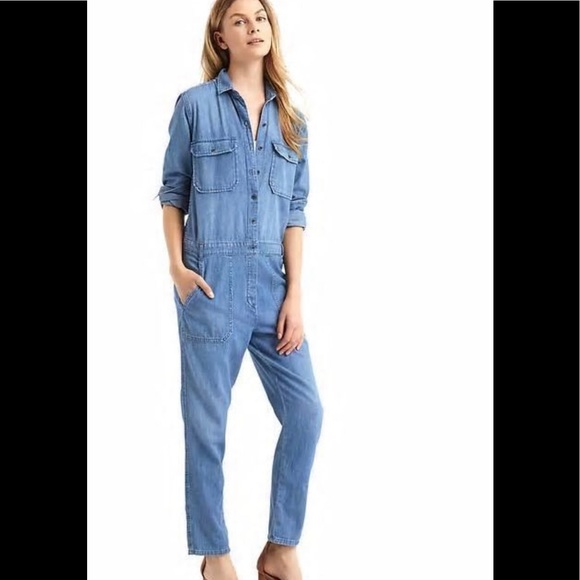 7d95d06579d5 GAP 1969 Denim Utility Jumpsuit
